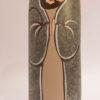 Peint sur galet retaille, le santon Joseph est revisite par Martine Gaussen !