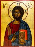 Christ-pantocrator-en-buste-Vie-en-Douce-Icone-religieuse-peinte