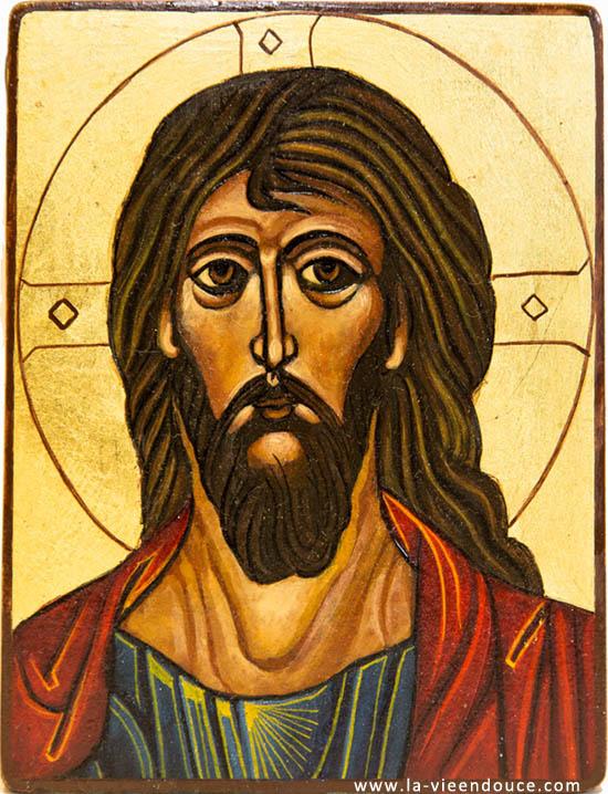 Très Icônes religieuses du Christ peintes par Martine Gaussen MD31