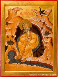 Icône prophète Esaie dans le désert