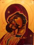 VIERGE-DE-VLADIMIR-TETE-la-vie-en-douce-icône religieuse Byzantine