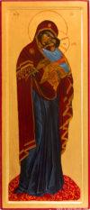 Icône Vierge à l'enfant (en pied)
