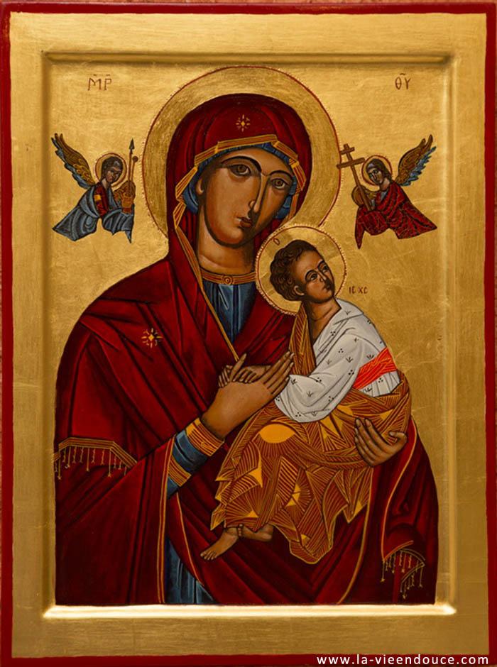 Icone Religieuse icône vierge du perpétuel secours - la vie en douce
