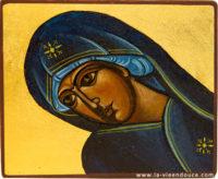 Icône Vierge penchée